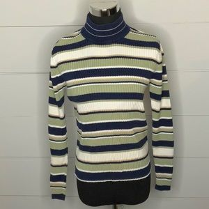 Croft & Barrow turtleneck striped top